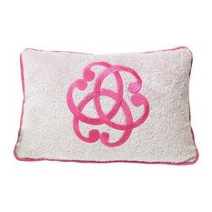 Serenity Beach Cushion, White and Pink