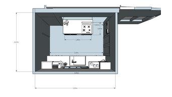 Rénovation d'une cuisine et décoration de la pièce à vivre