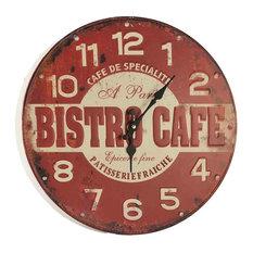 EMDE Coffee Wall Clock, Red