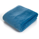 Lavish Home - Super Soft Flannel Blanket, Twin, Blue - Nothing matches the warmth and comfort of a flannel blanket.