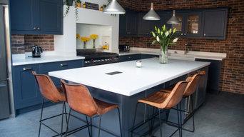 Navy Blue Modern Kitchen