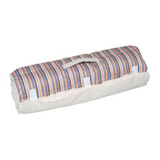 Roll-Up Dog Bed, Coral Stripe