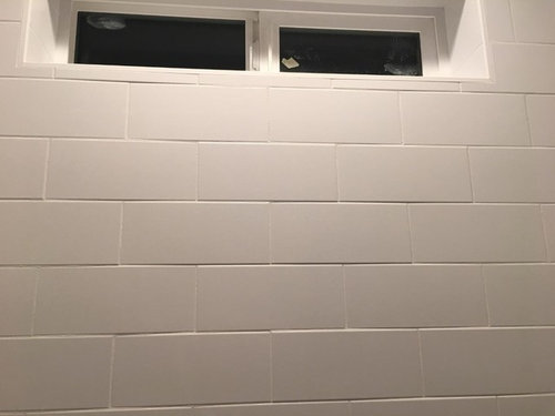 Subway Tile In Shower Looks Wavy And Crooked Unique 1 3 Staggered Tile Pattern