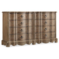 Hooker Furniture 5180-90002 68 Inch Wide 8 Drawer Acacia Wood Dresser from the