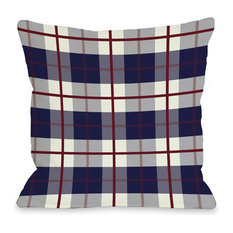 """""""American Plaid"""" Indoor Throw Pillow by OneBellaCasa, 16""""x16"""""""