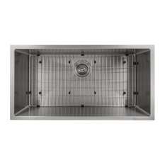 "ZLINE Classic 36"" Undermount Single Bowl Sink, Stainless Steel, SRS-36"