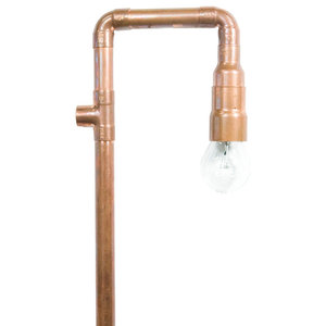 Retro Copper Pipe Wall Light