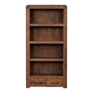 Shiro Tall Solid Walnut Bookcase