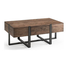 Condo Rectangular Coffee Table in Distressed Rustic Honey