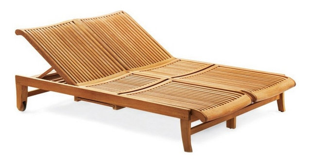 Teak Outdoor Giva Double Chaise Lounger