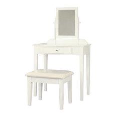 Wood 3 Pc Vanity Set in White