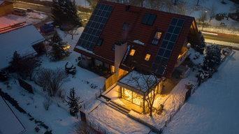 Erweiterung eines Wohnhauses  // Vogelperspektive Nacht