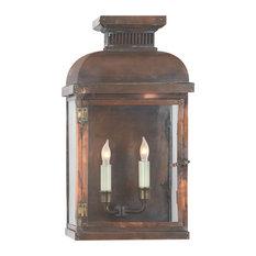 Suffork Wide Short 3/4 Lantern, Natural Copper