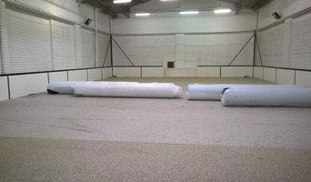 Terrain de football en salle