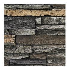 Deep Stacked Stone Design Wall Panel, SAMPLE-Aspen, Midnight