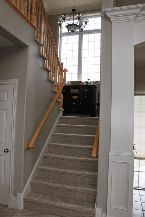 Advice Needed On Wood Or Carpet For Staircase Landing