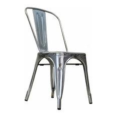 Bastille Stackable Side Chair, Galvanized Steel