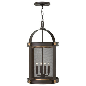 Cage 4-Light Pendant Chandelier, Buckeye Bronze