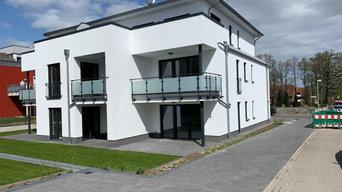Baugebiet Hasbergen: Hier ist ein Mehrfamilienhaus entstanden.