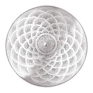 Moroccan Silver Peacock Orb Pendant Light, Medium