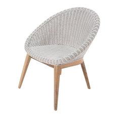 White Woven Tub Chair
