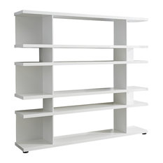Lines Open End Bookcase, White Gloss