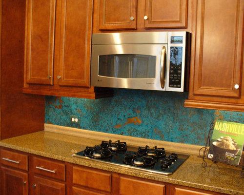 Azul Copper Kitchen Backsplash Tile