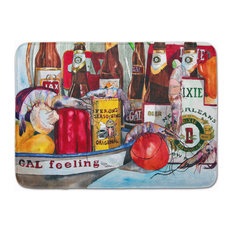 Veron's and New Orleans Beers Machine Washable Memory Foam Mat