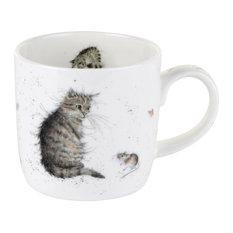 Royal Worcester Wrendale Cat and Mouse Single Mug