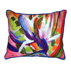 Bird Of Paradise Flower Large Outdoor Pillow