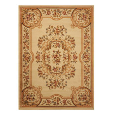 """Traditional Beige Rug, 3'11""""x5'10"""", Paramount PAR37 by Nourison Rugs"""
