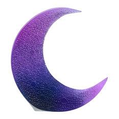 Daum Crystal Ateliers Blue Uv Moon
