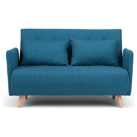 Piper Roll-Out Sofa Bed, Blue