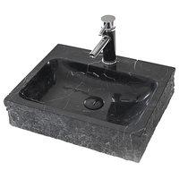 """Eviva Stonie 20"""" Black Vessel Sink"""