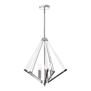 Altera 5-Light Chandelier With Acrylic Arms, Polished Chrome