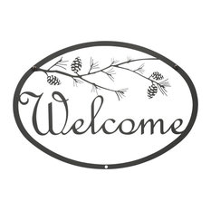Welcome Sign, Small, Pinecone