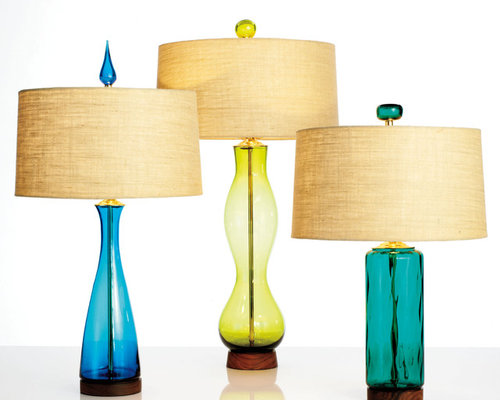 Blenko Glass Iconic Mid Century Modern Table Lamps