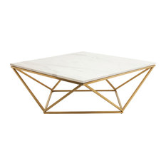 Nuevoliving Jasmine Coffee Table Brushed Gold Coffee Tables