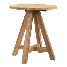 BRYAN Bar Table Natural Not Sealed Reclaimed Teak Outdoor