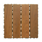 "Ipe Wood Deck Tiles, 12""x12"""
