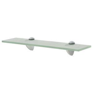 VidaXL Floating Shelf, 8 mm, Frosted, 40x10 cm