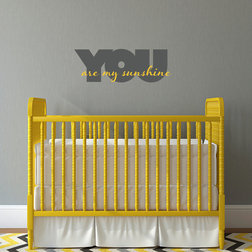 Vintage Contemporary Wall Decals by Stephen Edward Graphics You Are My Sunshine