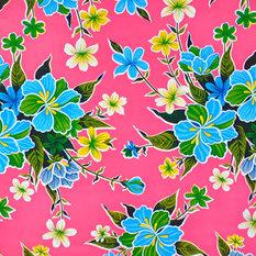 - hule mexicano modelo hibisco rosa - Telas para exteriores