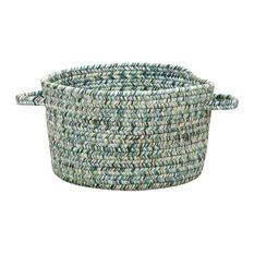 "Sea Pottery Braided Basket, Blue, 20""x20""x12"""