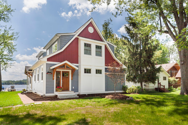 Traditional Exterior by Forward Design Build Remodel