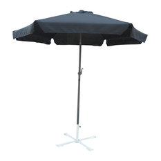 International Caravan 60403-BK 8' Outdoor Aluminum Umbrella, Black