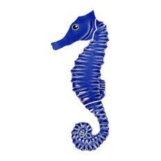 Ceramic Tile Designs, Seahorse, Blue