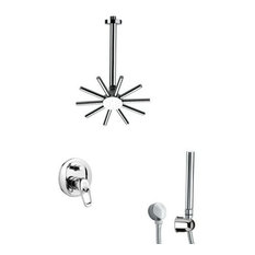 Nameeks SFH6540 Remer Single Handle Shower System Faucet, Chrome