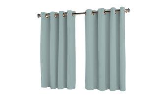 Elegance Insulated Short Length Grommet Panel, Aqua, 54 X 54