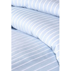 Stripe Duvet Cover Set, Sky, Super King 260x220 cm